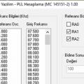 MC145151-2 PLL Entegresi İçin Hesaplama Programı