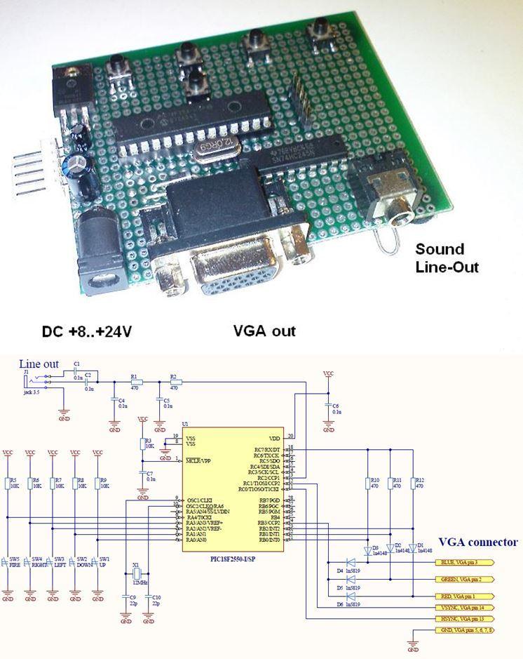 pic18f2550-vga-game-circuit-board-pcb-schematic