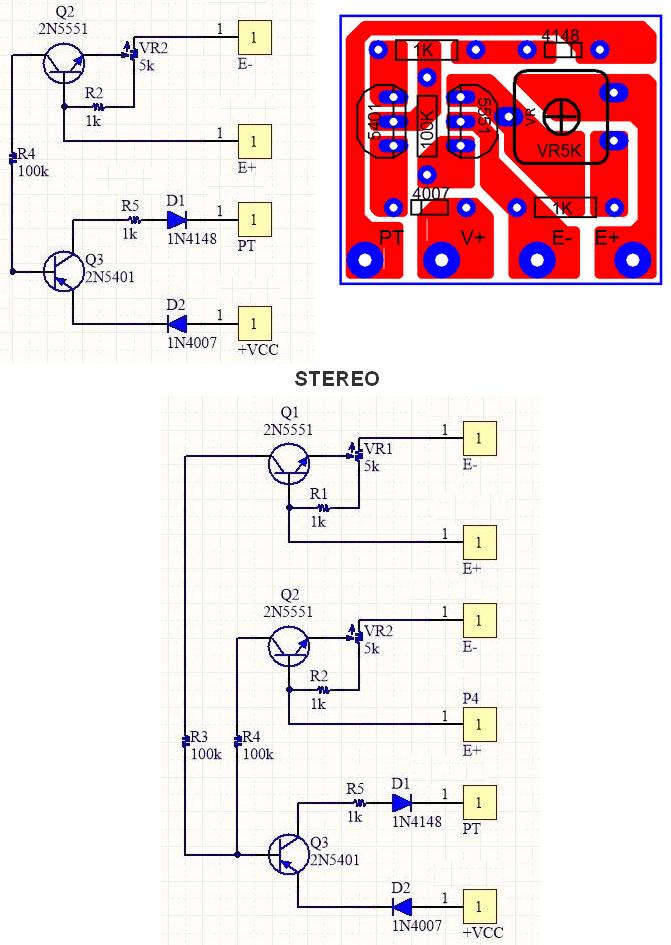 speaker-short-circuit-protection-schematic-pcb