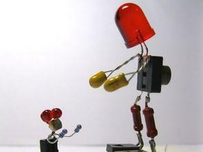 Elektronik Malzemeler ile hazırlanan İlginç Figürler
