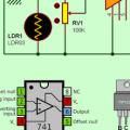 741 Opamp Transistörlü Karanlık Anahtarı