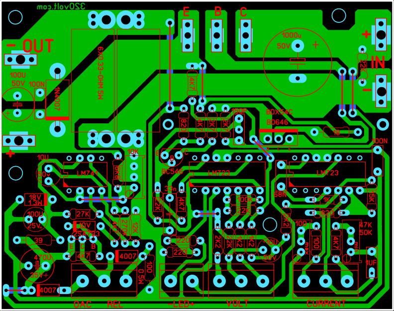 0-30V-0-10A-VELLEMAN-K7200-POWER-SUPPLY-NEW-PCB-BOARD