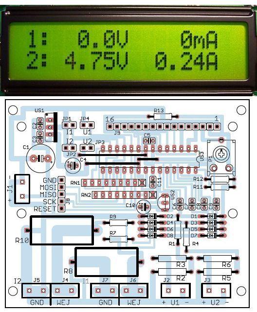 lcd-voltmetre-ampermetre-avr-proje-atmega8-projeler