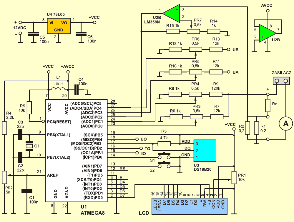 digital-voltmeter-ammeter-thermostat-circuit