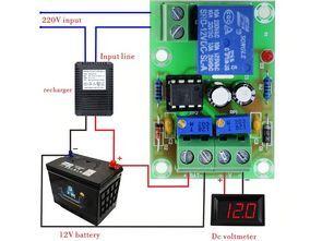 Akü Şarj Kontrol Modülü (NE555 Düşük-Yüksek Voltaj İzleyici Devresi)