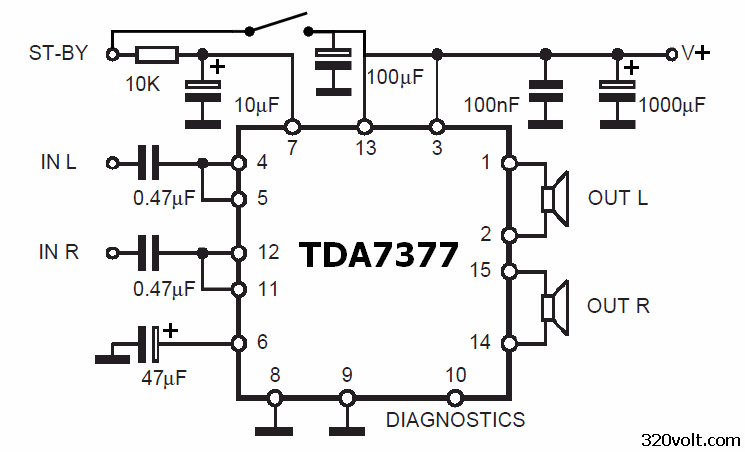 tda7377-bridge-schemtic-diagram