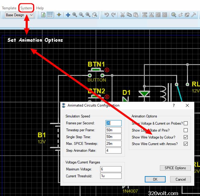 proteus-set-animation-options-animated-electronic-circuit