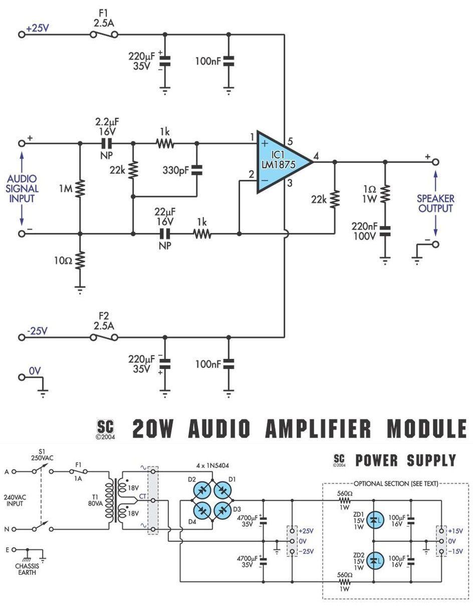 lm1875-hi-fi-amplifier-power-supply-circuit-diagram