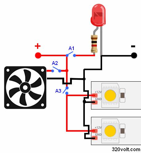 switch-5050-led-strip-12v-connection-smps-leds-strips