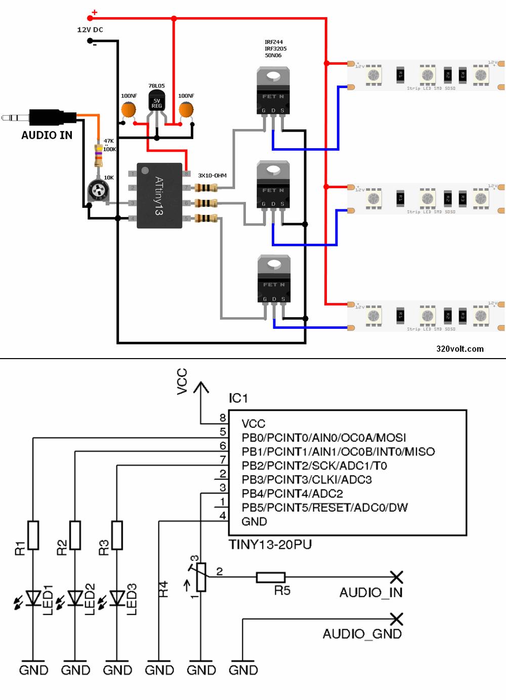 color-music-rgb-dance-lights-stript-leds-circuit-schematic