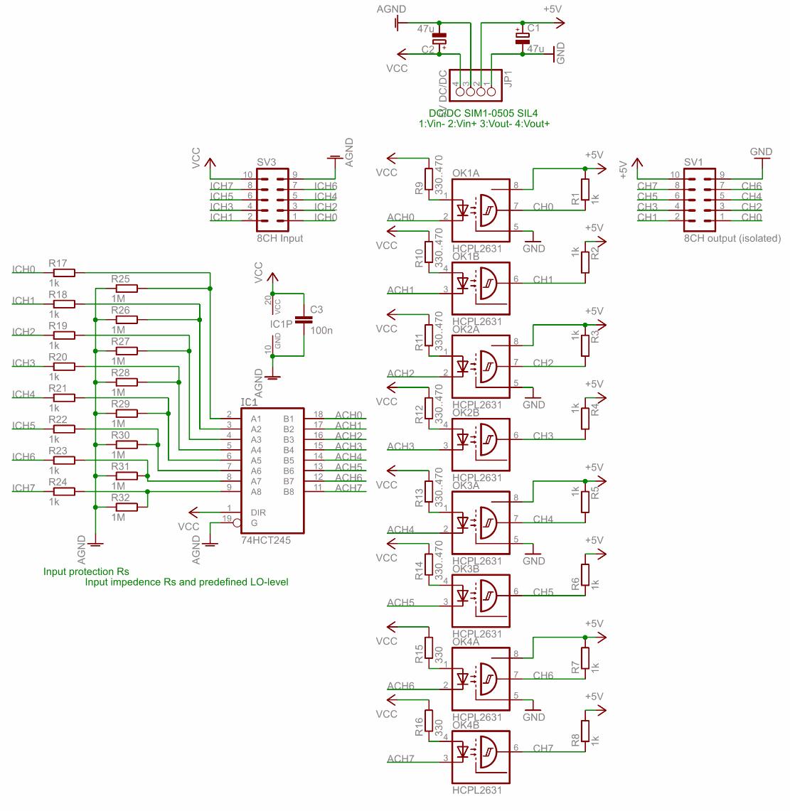 logic-analyzer-galvanic-isolation-circuit-schematic
