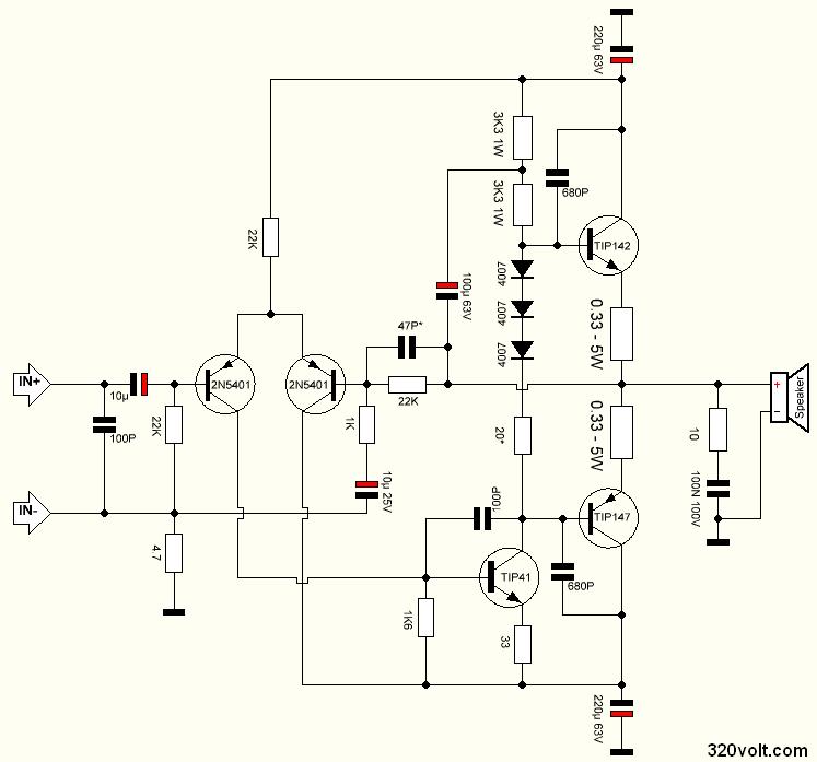 100w-darlington-power-amplifier-schematic
