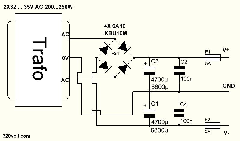 amplifier-power-supply-circuit-schematic-100w