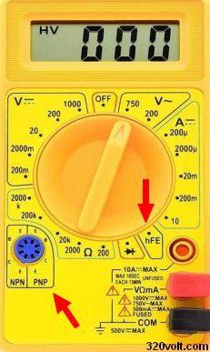 transistor-hfe-olcumu-multimeter-hfe-measuring