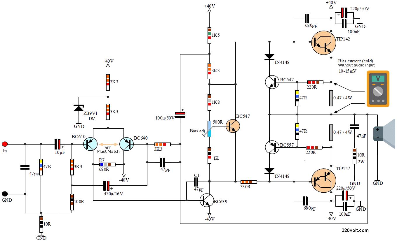 100w-pro-amplifier-circuit-schematic-diagram