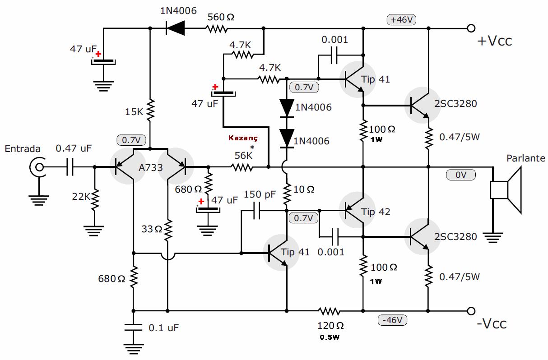 hifi-100w-amplifier-circuit-schematic-2sc5200